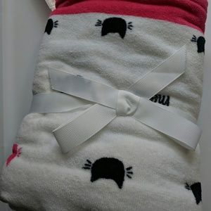 Kitty Cat Faces 2 Hand Towels Pink Black